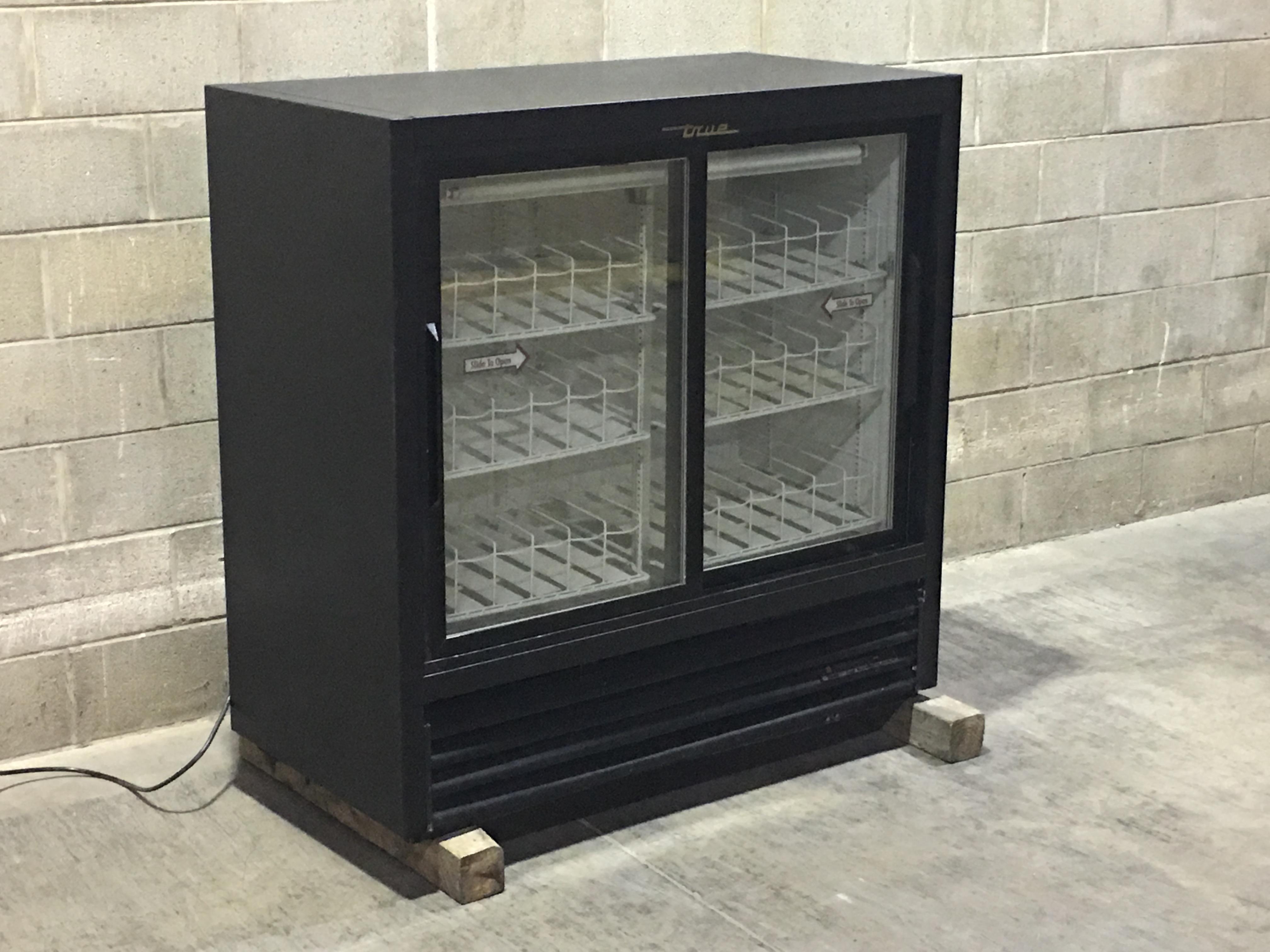 Two Glass Door Display Drink Cooler