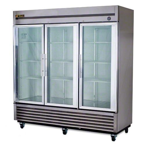 T 72g Three Door Cooler Three Door Refrigerator