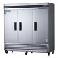 Stainless Steel Three Door Reach In Freezer