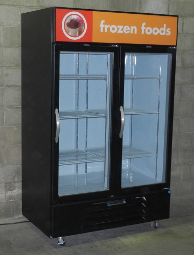 Used Two Glass Door Merchandiser Freezer