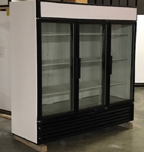 Used Three Glass Door Freezer - LED Lighting