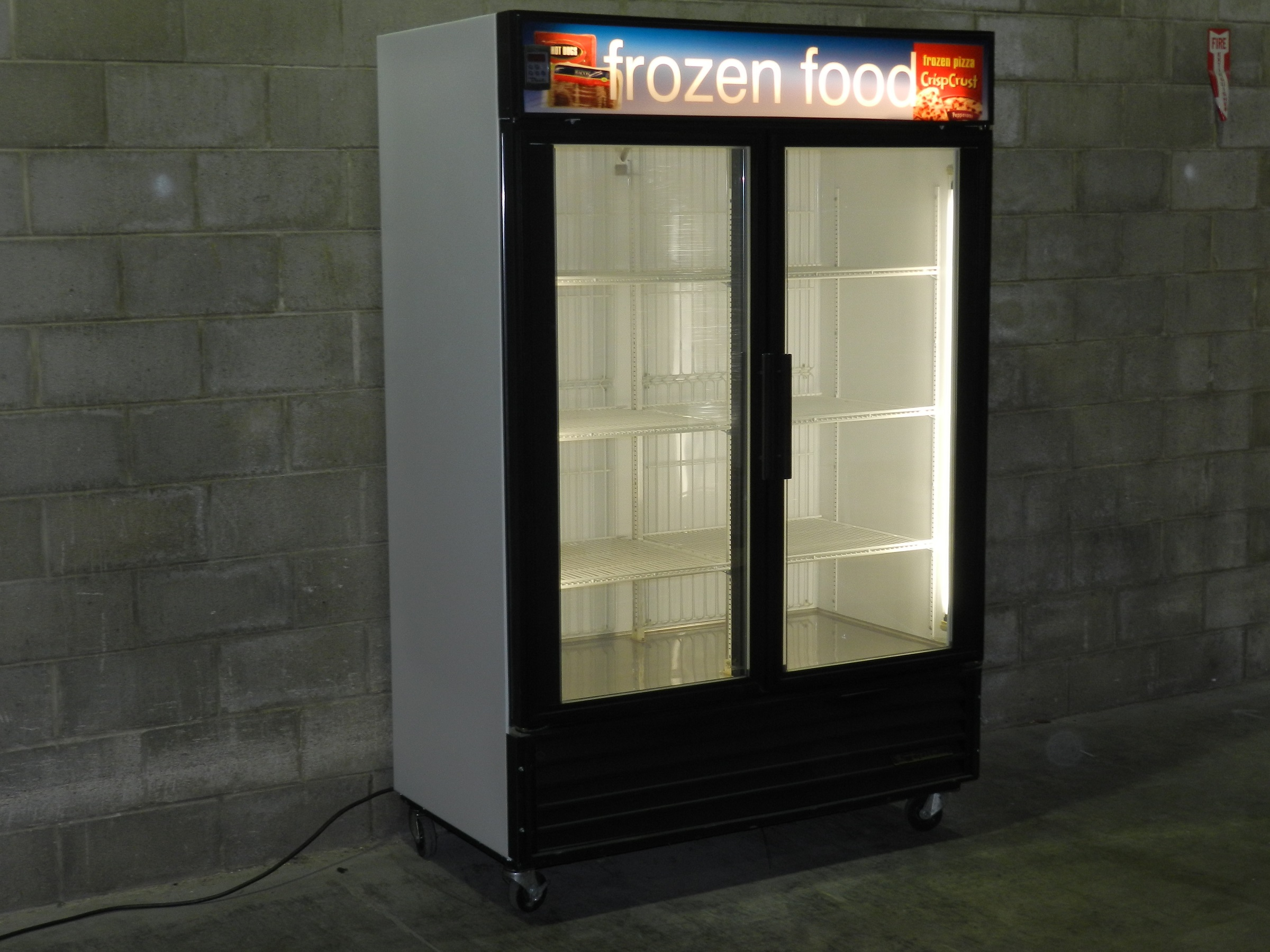Used Two Glass Door Freezer Merchandiser