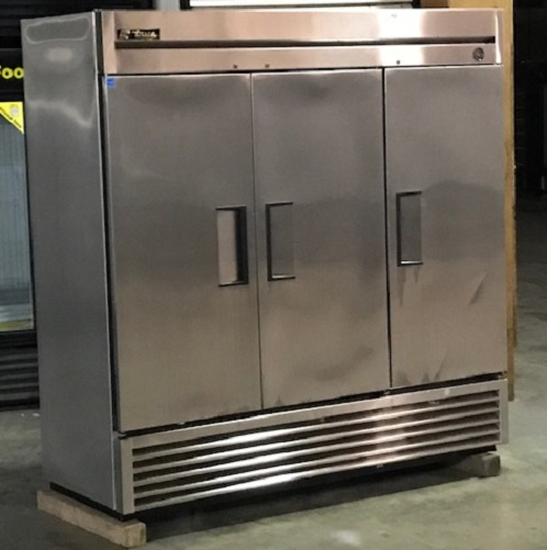 Used Stainless Steel Three Door Freezer